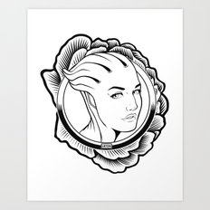 Mass Effect. Liara T'soni Art Print