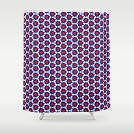 Red & Blue Pattern Shower Curtain