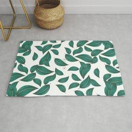 Leaves collage pattern Rug