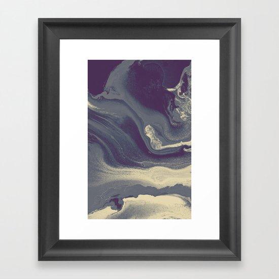 Marble Y Framed Art Print