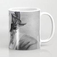 johnny depp Mugs featuring Johnny Depp by Brooke Shane