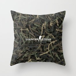 Counter strike weapon camouflage Throw Pillow