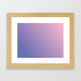 purple / pink - grid Framed Art Print