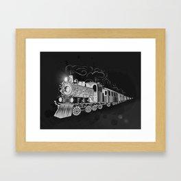 A nostalgic train Framed Art Print
