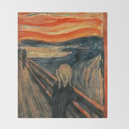The Scream by Edvard Munch Throw Blanket