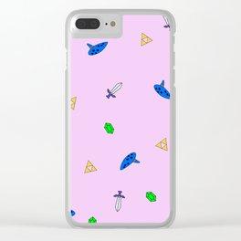 Legend of Zelda Pastel Print Clear iPhone Case