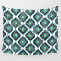 persian Wall Tapestries featuring Pistachio Persian Kilim by Katayoon Photography