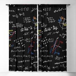 math blackboard Blackout Curtain