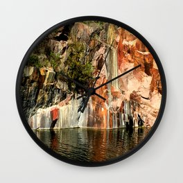 Quarry Wall Wall Clock