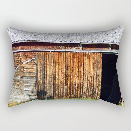 Open Barn Door Rectangular Pillow