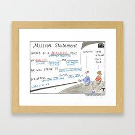 Mission Statement Framed Art Print