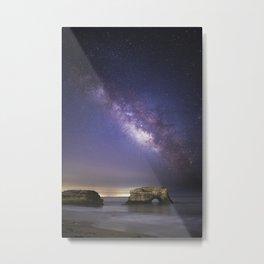 Milky Way over Natural Bridge Metal Print