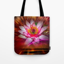 Wellness Water Lily Rose  6 Tote Bag