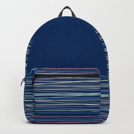 Blue thread , abstract Backpack