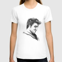 Robert Pattinson Inspired Sketch T-shirt