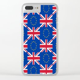 Mix of flag : UE and UK Clear iPhone Case