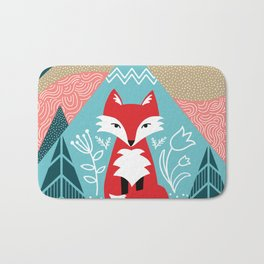 Winter Fox Bath Mat