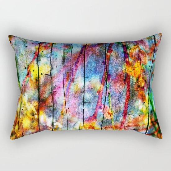 Colorful Symphony of Spring Rectangular Pillow