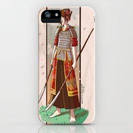 Samurai Girl iPhone Case