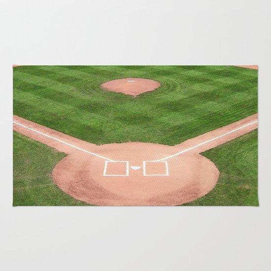 Baseball Rug: Baseball Field Rug By Karl-Heinz Lüpke