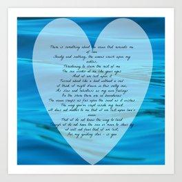 Upon Love's Ocean Art Print