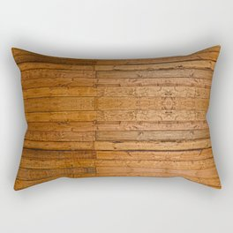 Rustic Wooden Boards I - Photo-sampled Wood Boards Rectangular Pillow