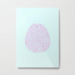 Pastel Brain Metal Print