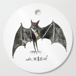 Halloween Welcome to the Ball Vampire Bat Greeting Card Cutting Board