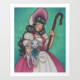 Little Bo Peep Art Print