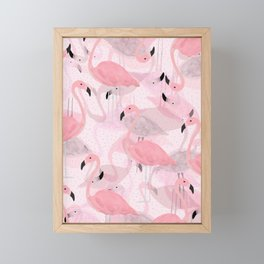 Flamingo Pattern Framed Mini Art Print