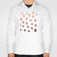 copper Hoodies featuring Copper Splotch by Lisa Argyropoulos