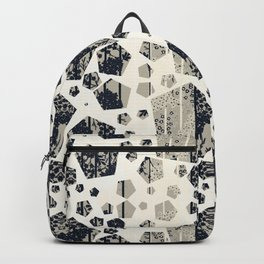Shapes & Flowers in Mono Toned By Danae Anastasiou Backpack