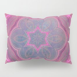 whimsical fractal love in pink Pillow Sham