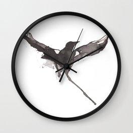 Flying crow Wall Clock