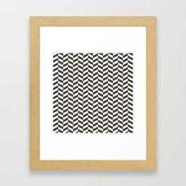 Taupe Brown Herringbone Pattern Framed Art Print