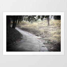 Walk with Me Art Print