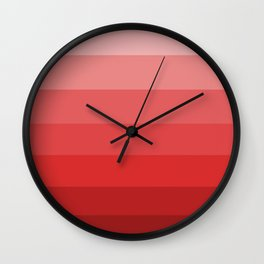 Starting in Red - Color Therapy Wall Clock