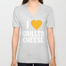 I Love Grilled Cheese Unisex V-Neck