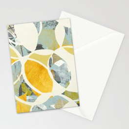 modern mid century, Graphic art, neutral colors, geometric art, circles, modern painting, abstract p Stationery Cards