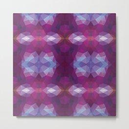 Kaleidoscopic design in soft purple colors Metal Print