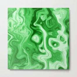 malachite natural rock abstract Metal Print