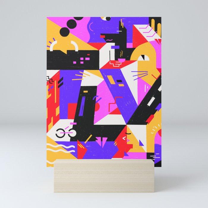 Multi-dimensional city Mini Art Print