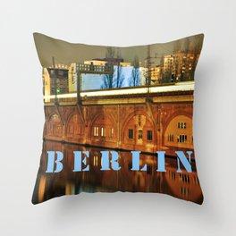 NIGHTTRAIN - RIVERSIDE - BERLIN Throw Pillow
