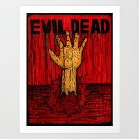 evil dead Art Prints featuring Evil Dead by Pineyard