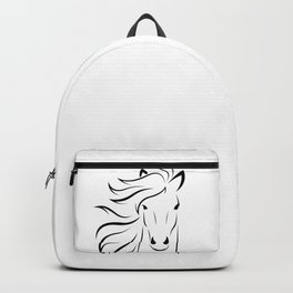 animal equine face horse Backpack