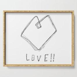 Love! Love! Love! - Heart Illustration Pop Art Serving Tray