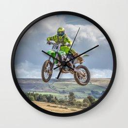 flying high in Motocross Wall Clock