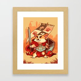 Corgi knight Framed Art Print