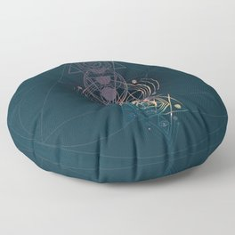 Dark Moon Phase Nebula Totem Floor Pillow