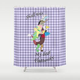 Shall we? Shower Curtain